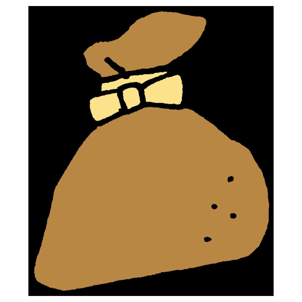 餅巾着のフリーイラスト
