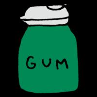 手書き風,ボトル,ガム,ボトルガム,たくさん,大量,食べる,嚙む,食べ物,歯,オナラ,ガス,嚙み続ける,味長持ち,口寂しい,集中力,お菓子