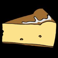 手書き風,ケーキ,スイーツ,甘い,西洋風,菓子,洋菓子,デザート,食後,おやつ,3時,チーズケーキ,スフレチーズケーキ,ベイクドチーズケーキ,テカテカ,艶やか