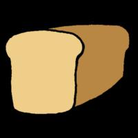 手書き風,食べ物,食パン,一斤,多い,たくさん,食べる,パン,朝食,食器,食べ物,切る,ブレッド,トースト