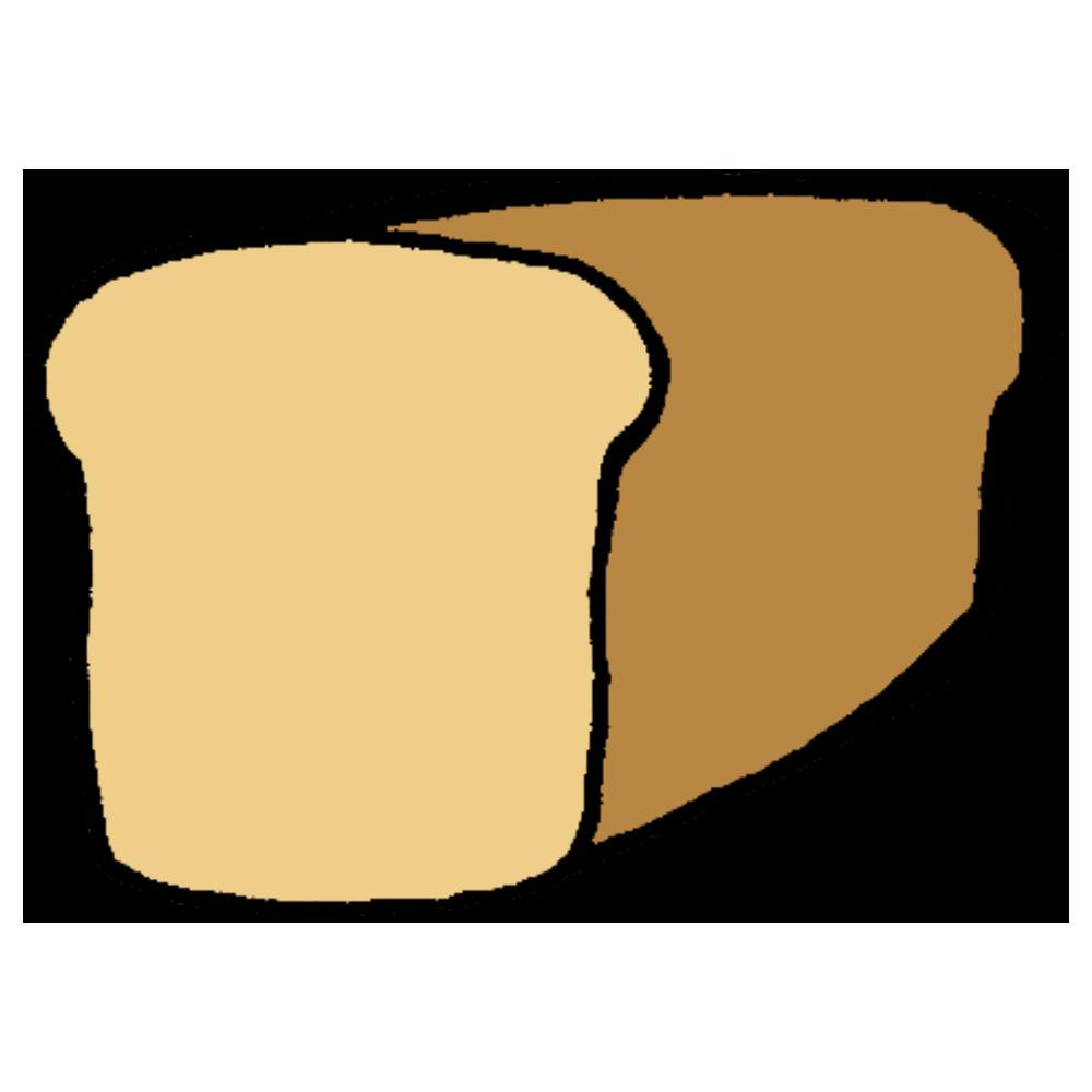 食パン一斤のフリーイラスト