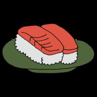マグロのお寿司のフリーイラスト