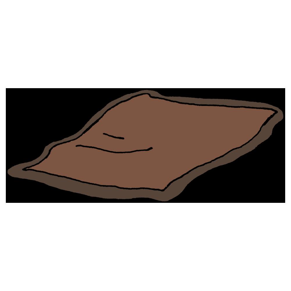 毛布のフリーイラスト
