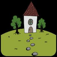 北欧風の家のフリーイラスト