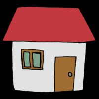 手書き風,家,お家,ハウス,住宅,民家,住む,暮らす,一般家庭,窓,ドア,窓,建物,生活,一戸建て,平屋,一階建て