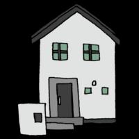 手書き風,建物,家,一軒家,家族,住む,住宅,民家,住まい,ハウス,2階,小さい,我が家,快適,マイホーム