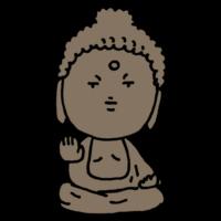 奈良の大仏のフリーイラスト
