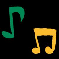 手書き風,記号,音符,音楽,♪,ルンルン,ウキウキ,楽しい,歌,歌う,楽器,演奏,リズム,鳴る,聴く,聞く