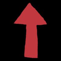 上向きの矢印のフリーイラスト