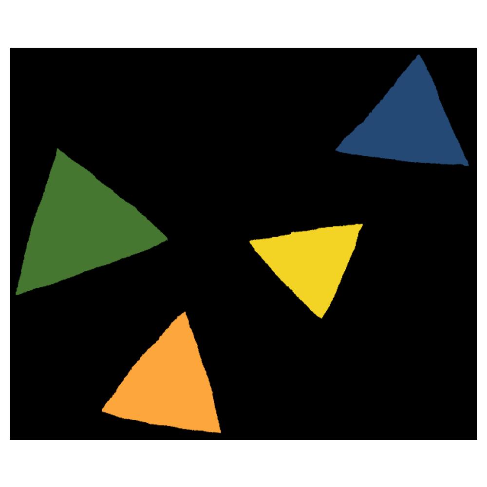 様々な大きさの三角形のフリーイラスト