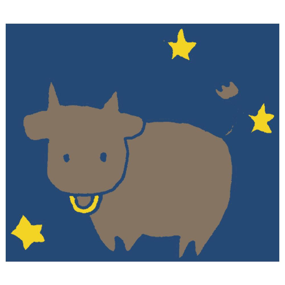 手書き風,星座,星,星占い,4月,5月,占い,夜空,誕生日,誕生月,おうし座,牡牛座,牡牛,牛,おうし
