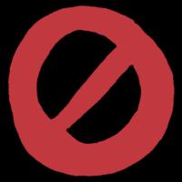 手書き風,禁止,ダメ,きんし,立ち入り禁止,進入禁止,いけない,NG,NO,ng,外出禁止,させない,しない,してはいけない,禁,ルール,記号,マーク,印,サイン