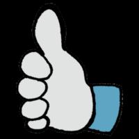 手書き風,手,記号,いいね!,評価,いいね,GOOD,良い,とても良い,いい,素敵,SNS,指,体の一部