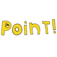 Pointの文字のフリーイラスト