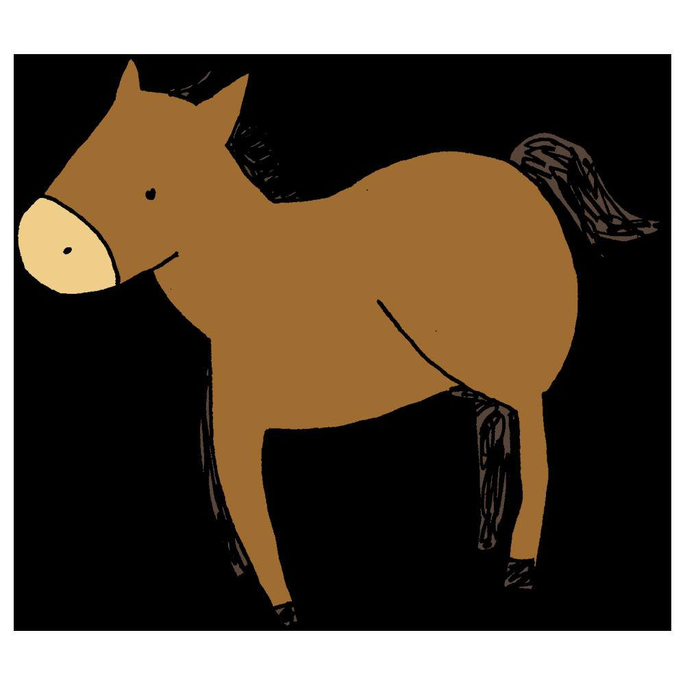 馬のフリーイラスト