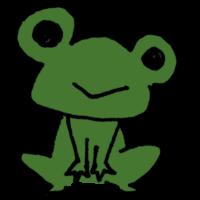 手書き風,動物,生き物,カエル,蛙,かえる,跳ねる,ピョンピョン,ジャンプ,両生類,ゲコゲコ,梅雨,雨,6月,7月