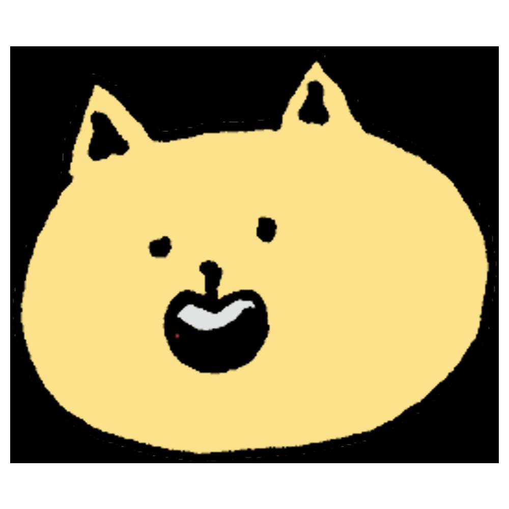 ゆるいネコちゃんのフリーイラスト