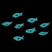 手書き風,動物,魚,魚類,群れ,魚の群れ,可愛い,群れる,たくさん,軍団,水,泳ぐ