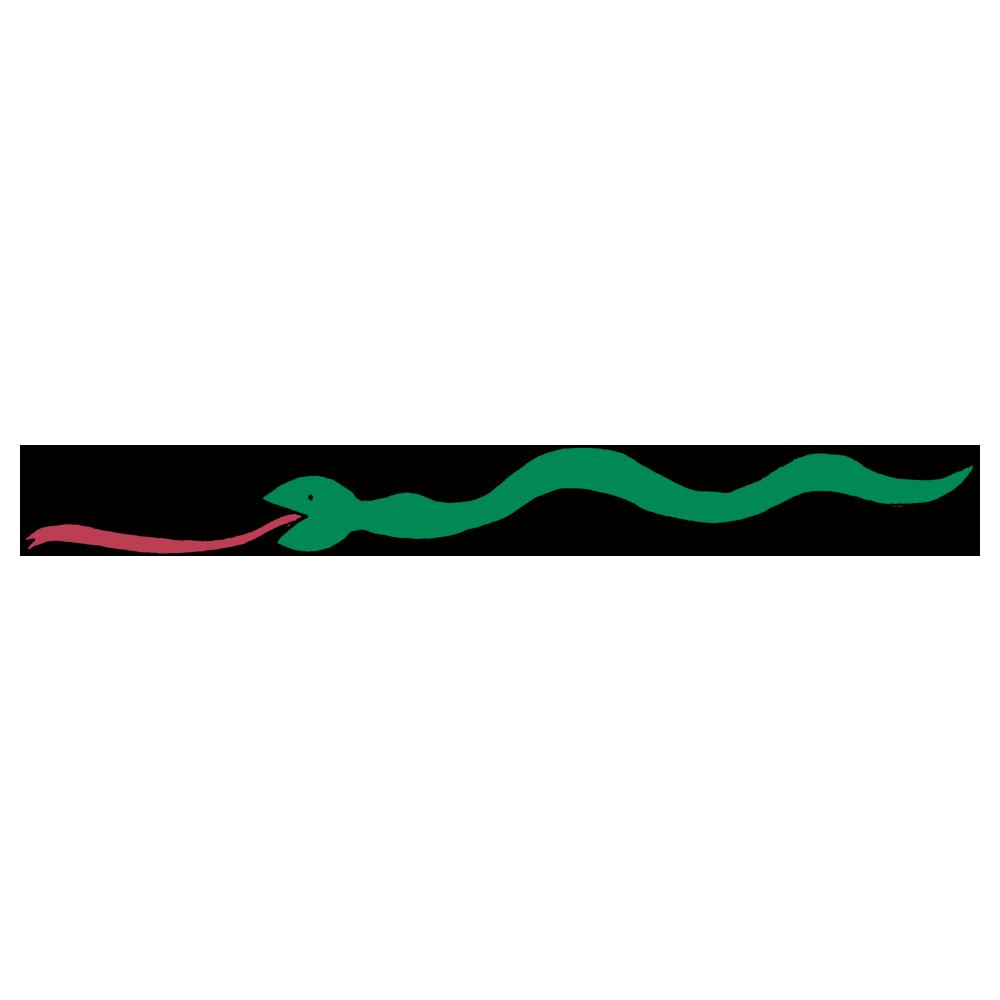 ベロも体も長いヘビくんのフリーイラスト