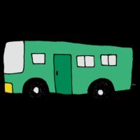 横向きのバスのフリーイラスト