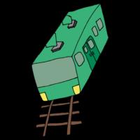 電車のフリーイラスト