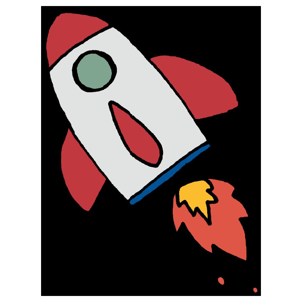 手書き風,乗り物,宇宙,宇宙飛行士,ロケット,跳ぶ,飛ぶ,発射,出発,銀河,ギャラクシー,星,夜,ろけっと,宇宙船,乗る