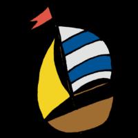 手書き風,乗り物,船,ヨット,海,レジャー,スポーツ,遊行船,風,風で進む,進む,レース