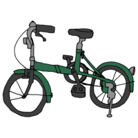 手書き風,自転車,乗り物,チャリ,ちゃりんこ,じてんしゃ,ジテンシャ,サイクリング,運動,漕ぐ,走る,進む,折り畳み自転車,折りたたみ自転車,折り畳み,おりたたみ,折りたたみ