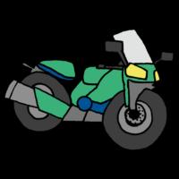 オートバイのフリーイラスト
