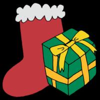 手書き風,イベント,プレゼント,靴下,冬,12月,12月25日,くりすます,Xmas,クリスマスイブ,飾りつけ,12月24日,嬉しい,貰う,準備