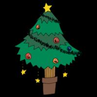 手書き風,植物,イベント,クリスマスツリー,冬,12月,12月25日,くりすます,Xmas,クリスマスイブ,飾りつけ,12月24日,モミの木
