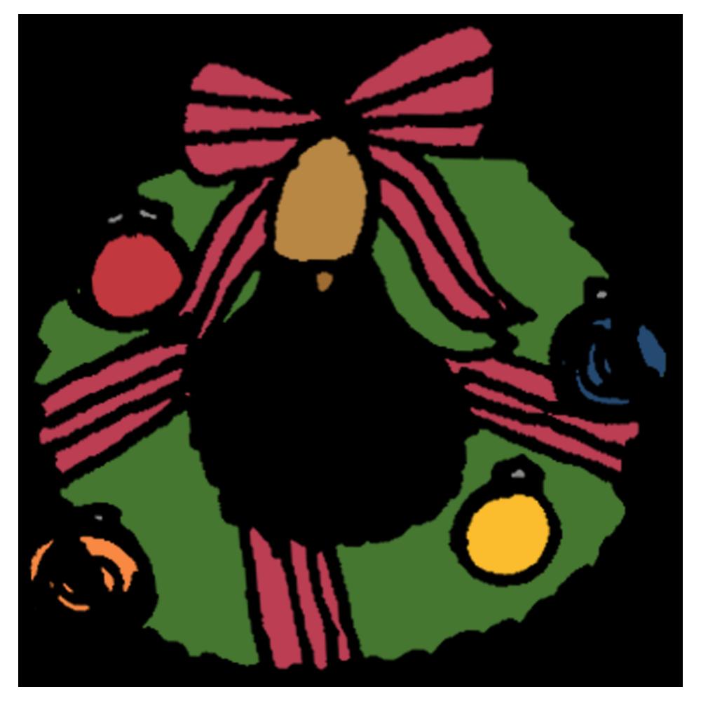 クリスマスリースのフリーイラスト