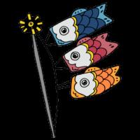 鯉のぼりのフリーイラスト