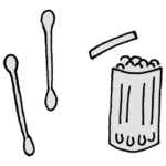 手書き風,日用品,日用雑貨,生活雑貨,暮らし,生活,用品,消耗品,綺麗,掃除,耳掃除,メイク,綿棒,めんぼう,細かい,コチョコチョ,柔らかい,細い