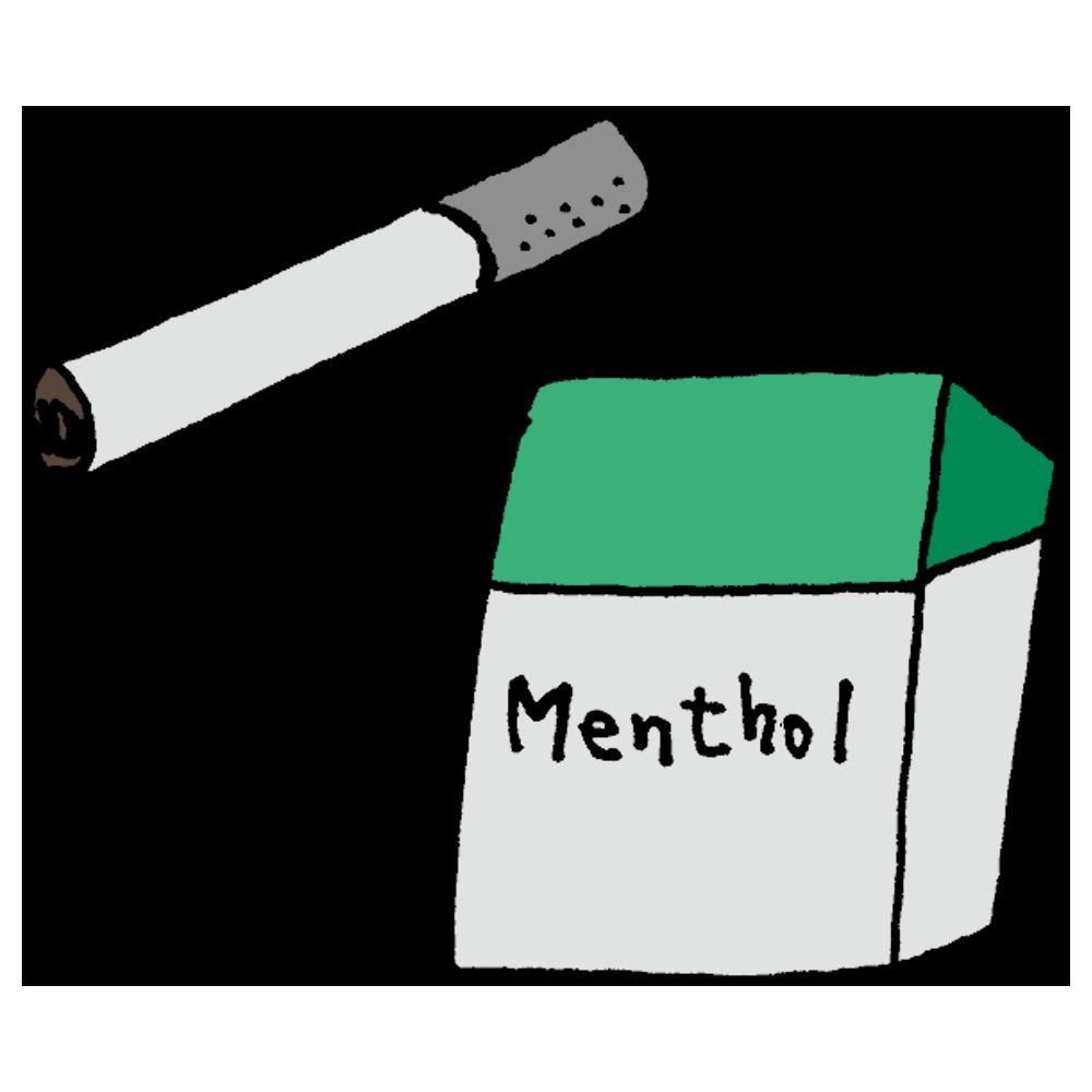 メンソールのタバコのフリーイラスト