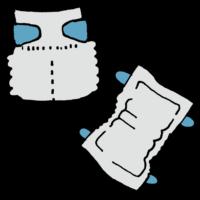 手書き風,紙,おむつ,オムツ,履く,排泄,うんち,おしっこ,テープ,テープタイプ,赤ちゃん,赤ん坊,ベイビー,ベビー用品,ベビー