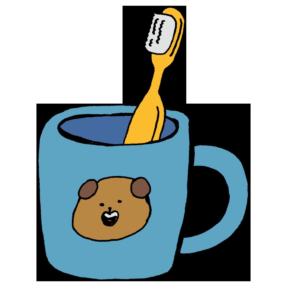 手書き風,日用品,日用雑貨,消耗品,歯ブラシ,歯磨き,歯,医療,ケア,毎日,毎食後,一日三回,磨く,キレイ,ブラシ,カップ,プラスチックカップ