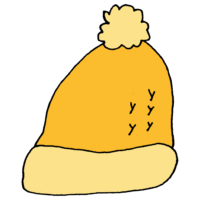 ポンポンのついたニット帽のフリーイラスト