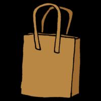 レザーのハンドバッグのフリーイラスト