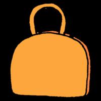 丸みのあるハンドバッグのフリーイラスト