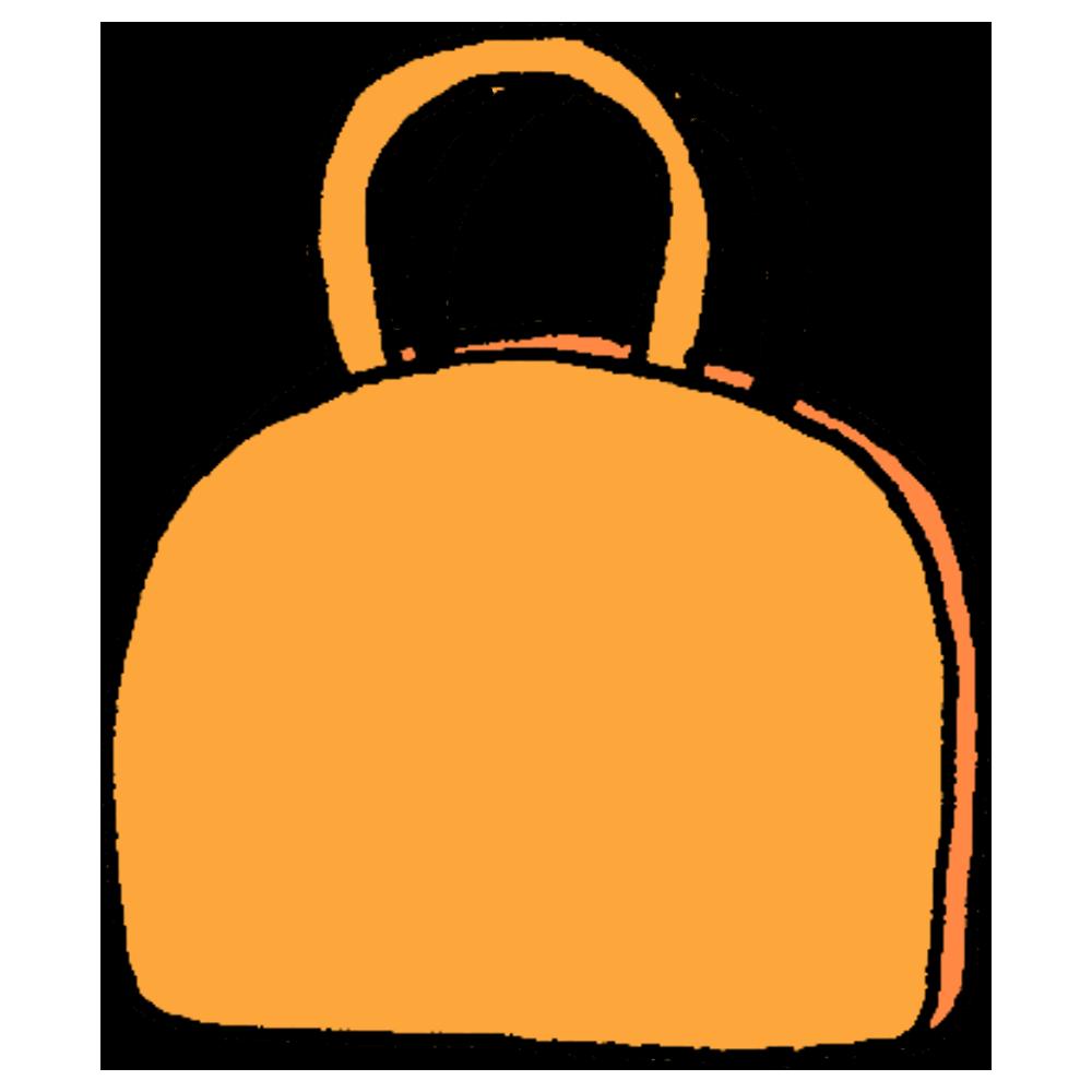 手書き風,ファッション,バッグ,バック,持つ,荷物,手荷物,外出,おでかけ,持物,持ち物,ハンドバッグ,ハンドバック,手持ち,丸み,丸い