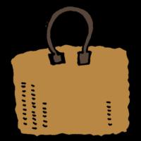 カゴのハンドバッグのフリーイラスト