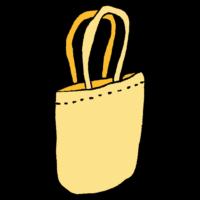 薄手のトートバッグのフリーイラスト