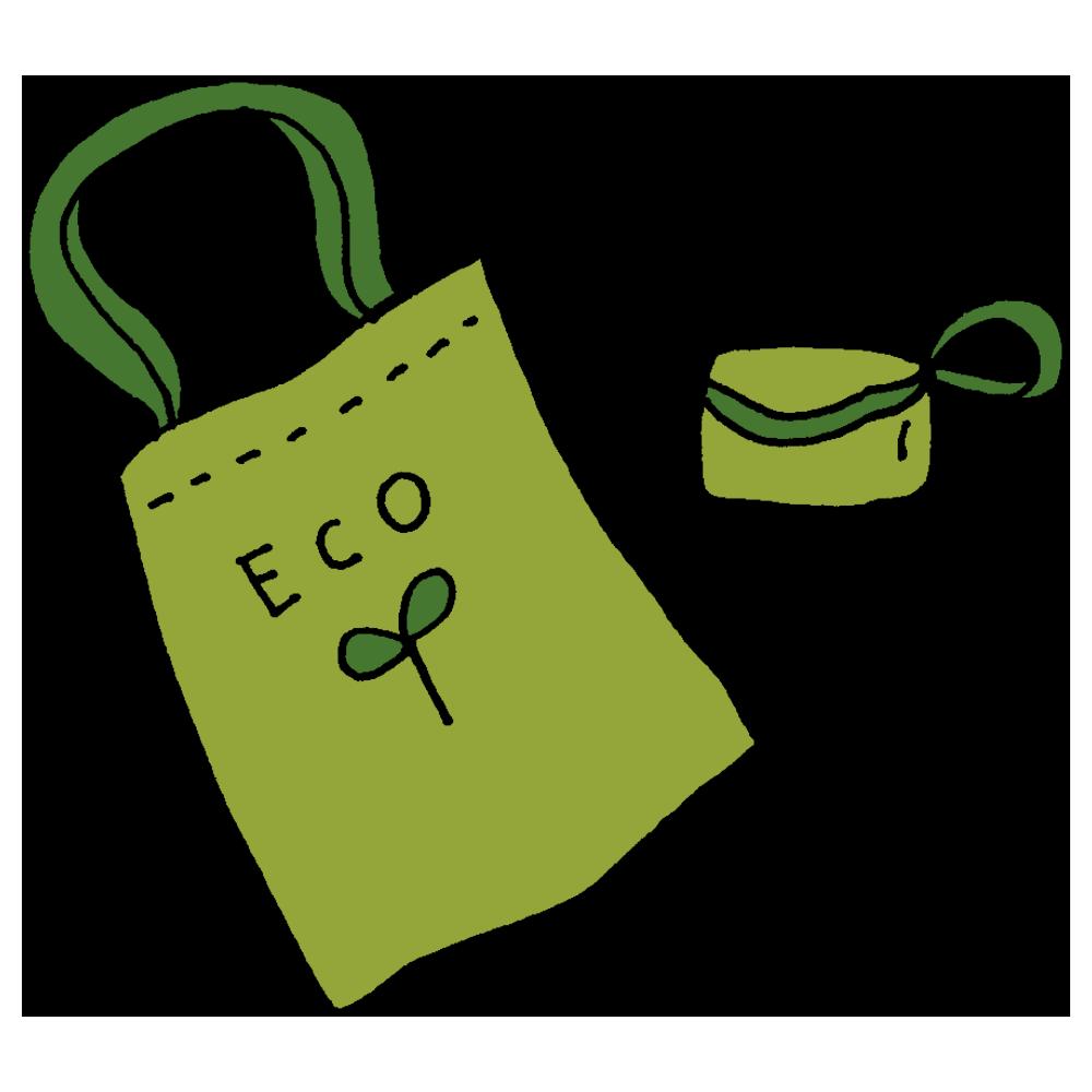 手書き風,エコバック,エコバッグ,折り畳み,折畳み,持ち運ぶ,バッグ,バック,持つ,エコ,ECO,環境,お買い物,ショッピング,買う,入れる,運ぶ,小さくなる,レジ袋削減,協力