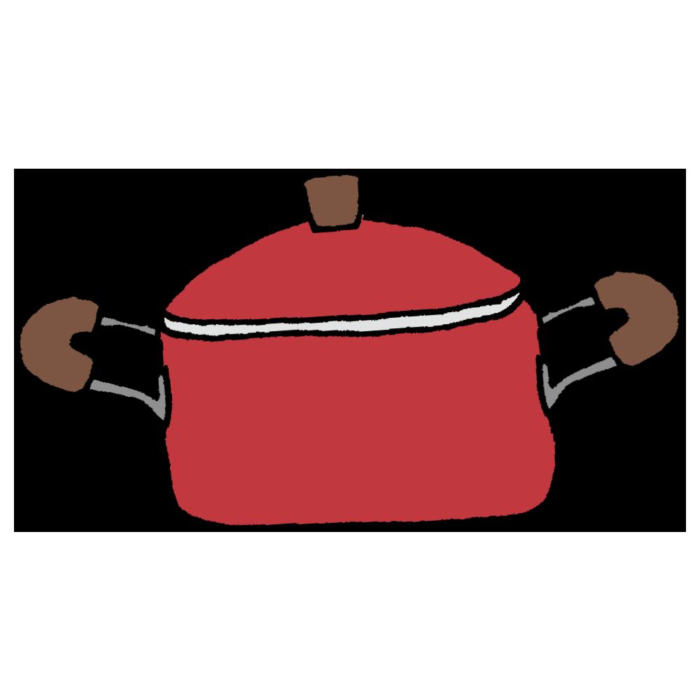 両側にとってのついたお鍋のフリーイラスト