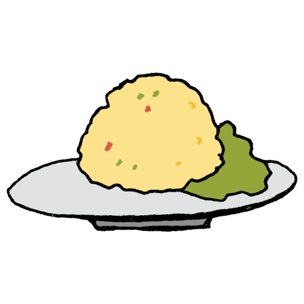 チャーハン,手書き風,食べ物,美味しい,中華,昼食,昼飯,夕飯,ご飯,炒め物,食べる,パラパラ,料理,作る,手作り,お母さん