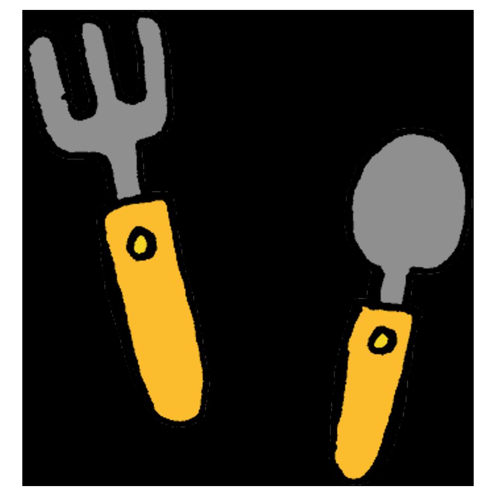 手書き風,食器,カトラリー,使う,食べる,食事,ご飯,ごはん,洋食,子供用