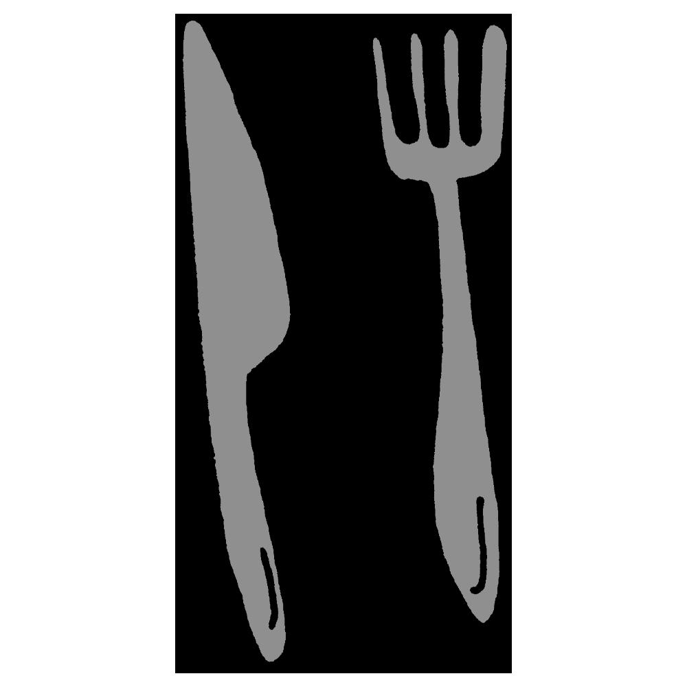 フォークとナイフのフリーイラスト