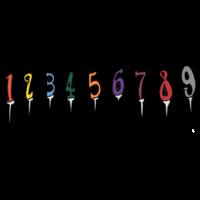 手書き風,数字,ろうそく,ローソク,ロウソク,蝋燭,誕生日ケーキ用,お誕生日,お祝い,おめでたい,食器,火,火をつける,火を消す,吹く,数字,番号,年齢,年