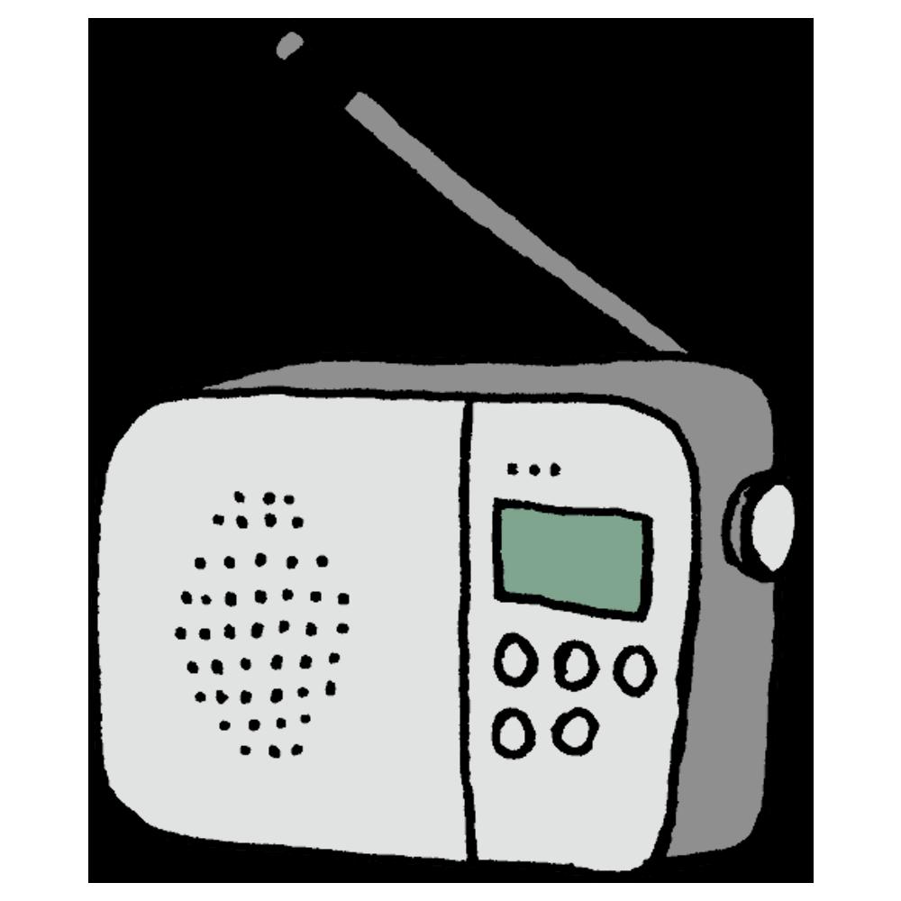 ラジオのフリーイラスト